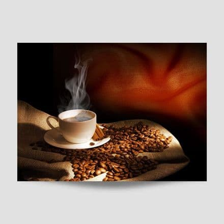 Coffee Beans And Cup Poster