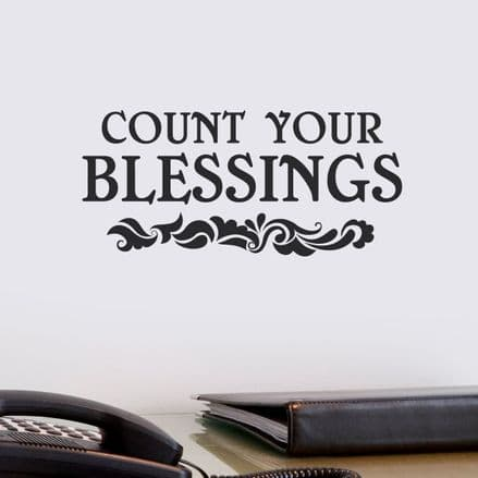 Count Your Blessings Wall Sticker