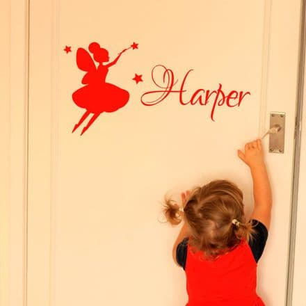Cute Fairy Name Wall Stickers