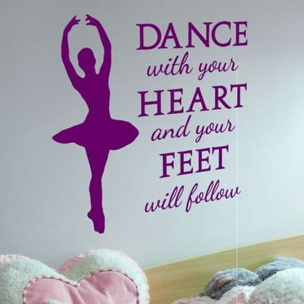 Dance With Your Heart Wall Sticker
