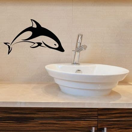 Diving Dolphin Wall Sticker