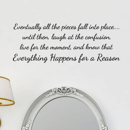 Eventually All The Pieces Wall Quote Sticker