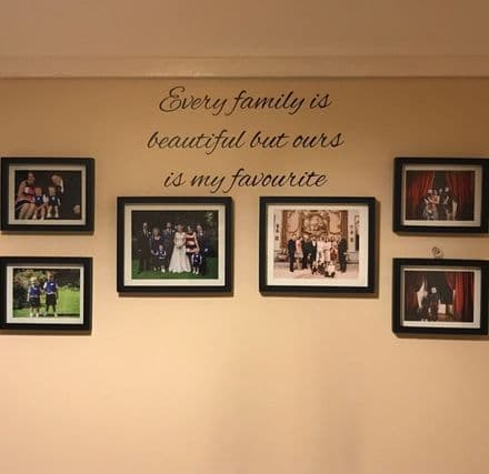 Every Family Is Beautiful Family Wall Sticker