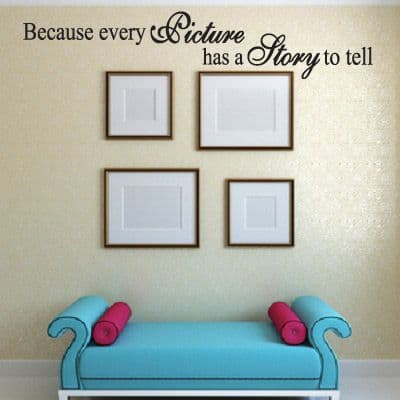 Every Picture Has A Story To Tell Wall Sticker