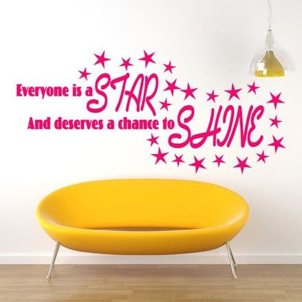 Everyone Is A Star Wall Sticker