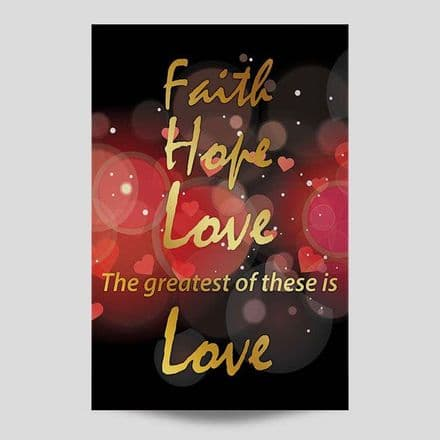 Faith Hope Love Wall Art