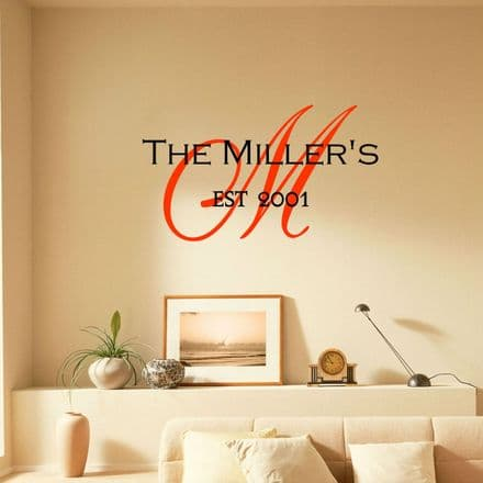 Family Monogram Wall Sticker