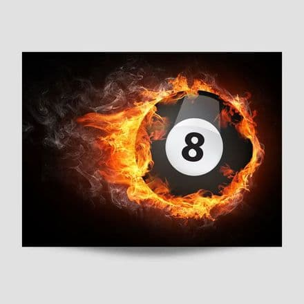 Flaming 8 Ball Poster