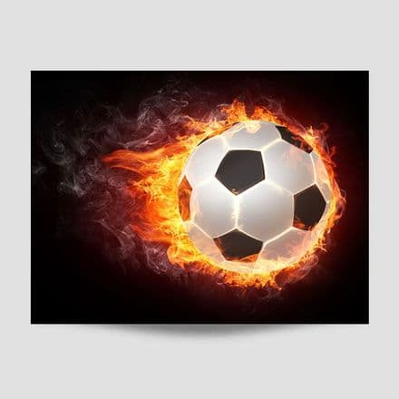 Flaming Football Poster
