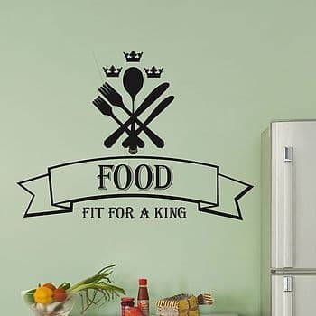 Food Fit For A King Wall Sticker