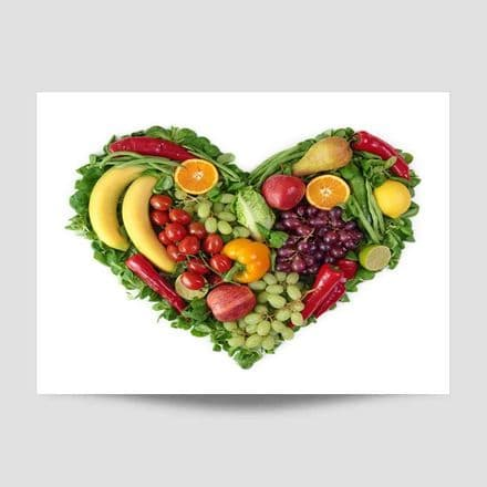 Fruit And Vegetable Heart Wall Art