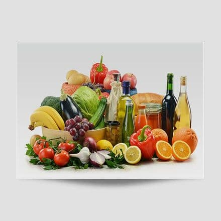 Fruit And Vegetables Kitchen Poster