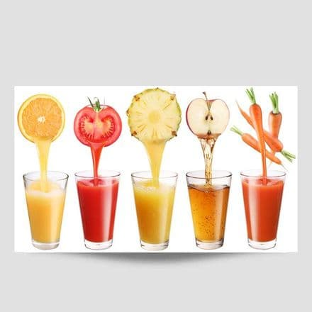 Fruit Juice Wall Art