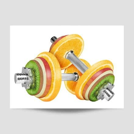 Fruit Weights Sports Poster