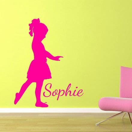 Girl Dancer Wall Sticker