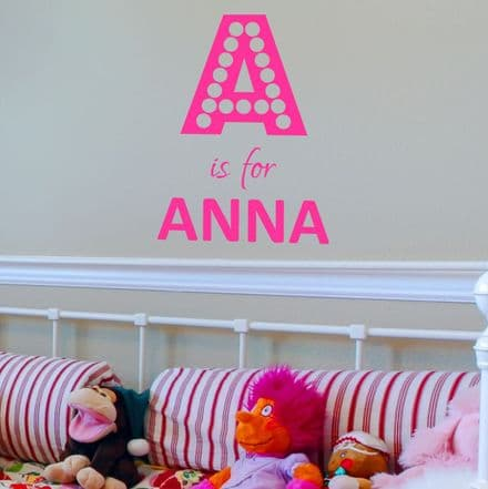 Girl Dotty Name Wall Sticker