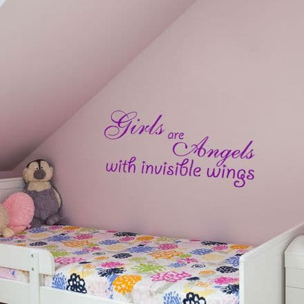 Girls Are Angels Wall Sticker
