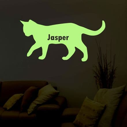 Glow In The Dark Cat Sticker