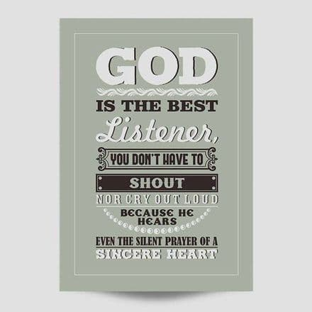 God Is The Best Listener Poster