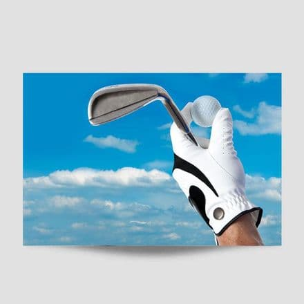 Golf And Golf Club Poster