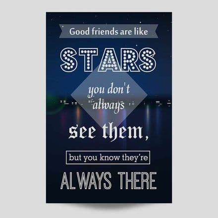 Good Friends Are Like Stars Wall Art