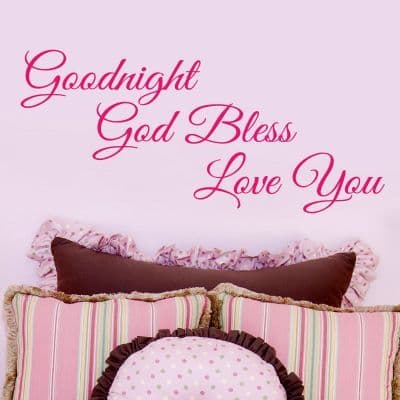 Goodnight God Bless Bedroom Wall Sticker