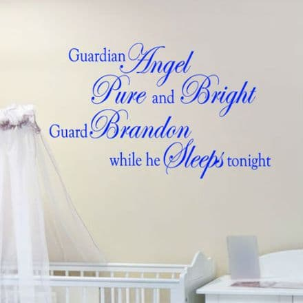 Guardian Angel Pure And Bright Wall Sticker