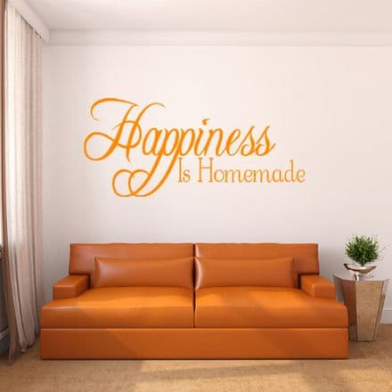 Happiness Is Homemade Family Wall Sticker