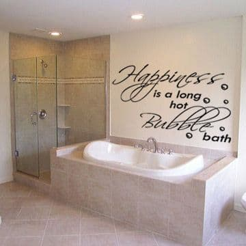 Happiness Quote For Bathroom