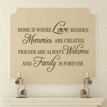 Home Is Where Love Resides Family Wall Sticker