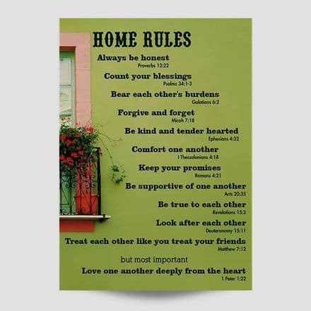 Home Rules Poster