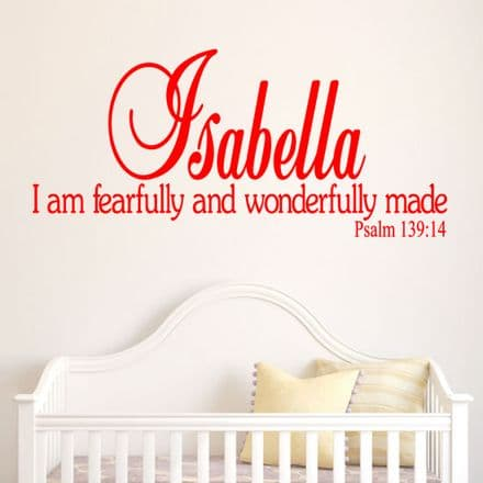 I Am Fearfully And Wonderfully Made Wall Quote