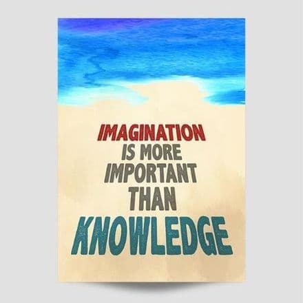 Imagination Is More Important Wall Art