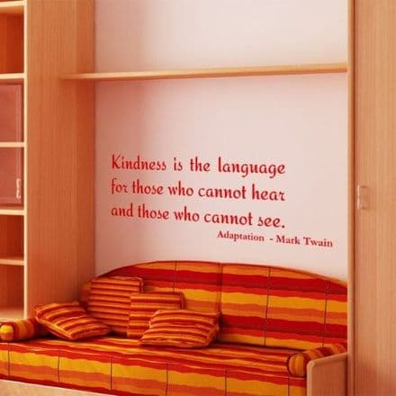 Kindness Is The Language Wall Sticker