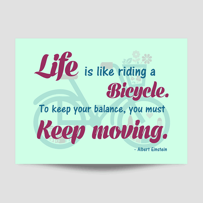 Life Is Like Riding A Bicycle Wall Art