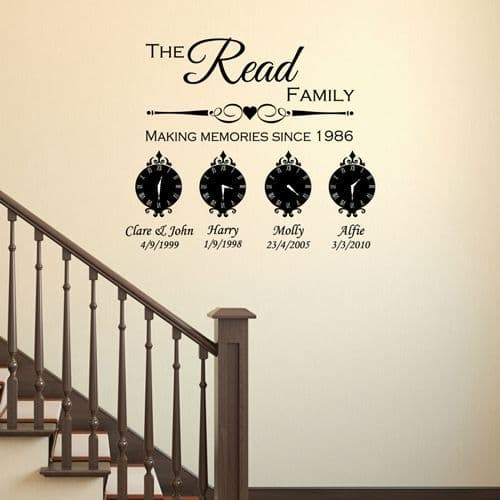 Making Memories Family Wall Stickers