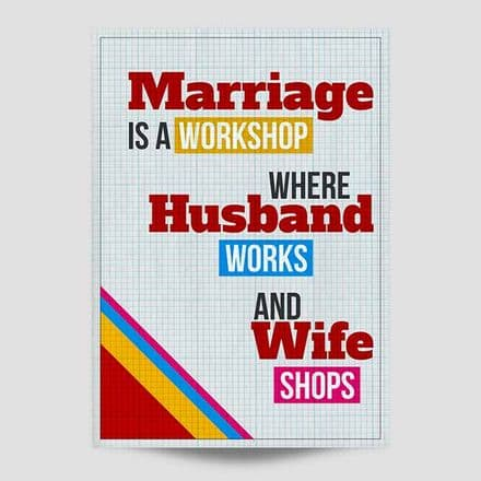 Marriage Is A Workshop Print