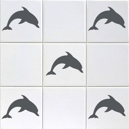 Mini Dolphins Tile Stickers