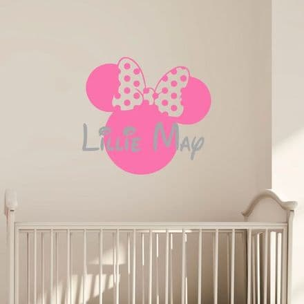 Minnie Name Wall Sticker