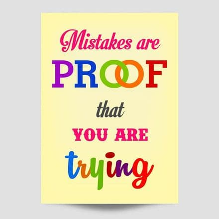 Mistakes Are Proof Wall Art