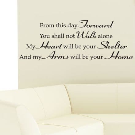 My Arms Will Be Your Home Family Wall Sticker