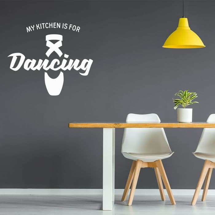 My Kitchen Is For Dancing Sticker