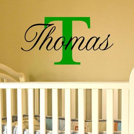 Name Wall Sticker Capital Letter
