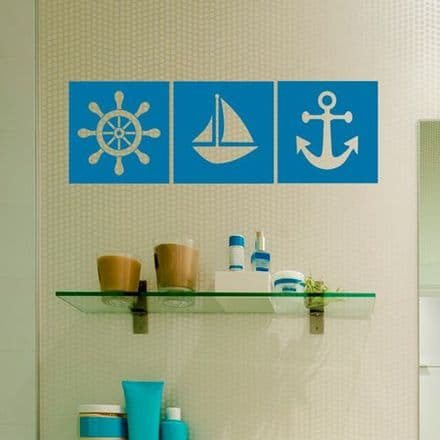 Nautical Themed Tile Sticker