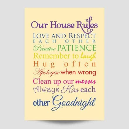 Our House Rules Family Print