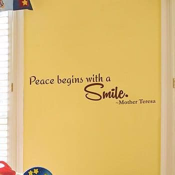 Peace Begins With A Smile Sticker