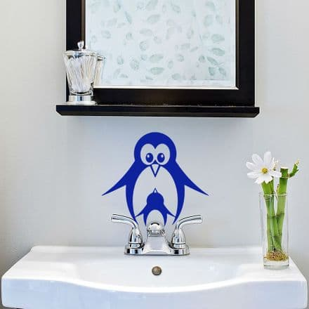 Penguin Bathroom Sticker