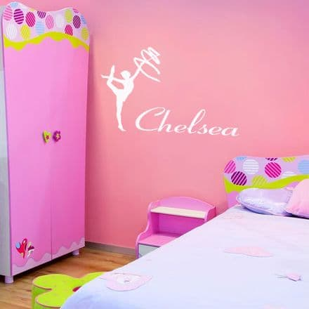Personalised Ballerina Wall Sticker