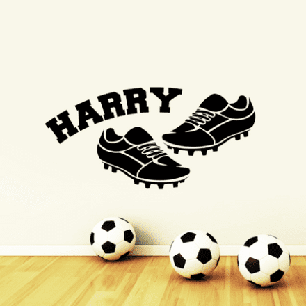 Personalised Football Boots Sticker