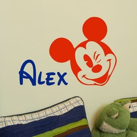 Personalised Mickey Mouse Sticker